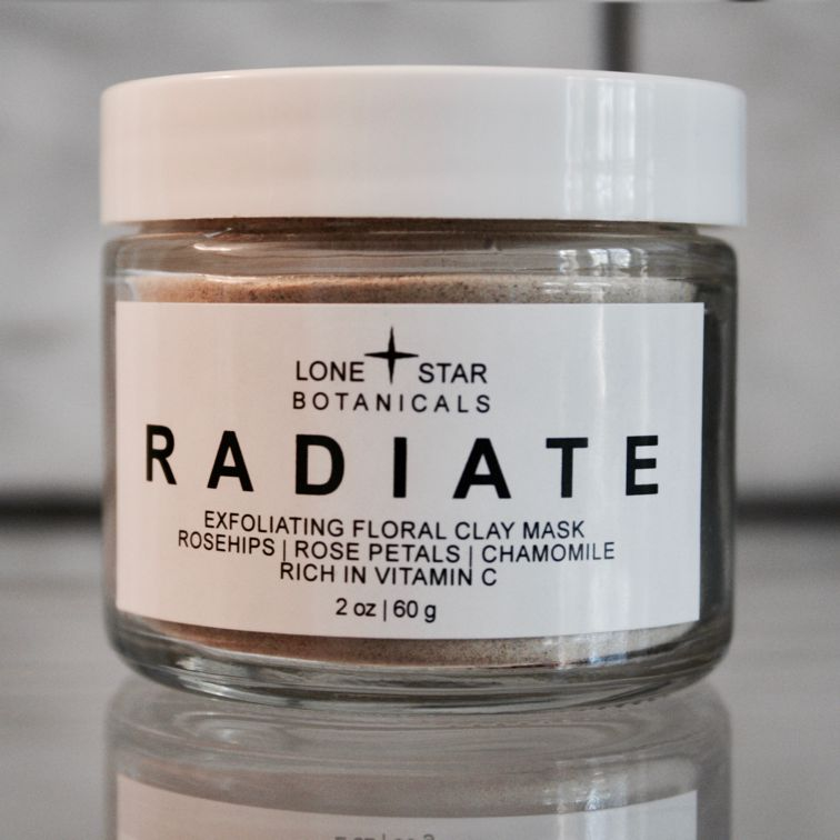 RADIATE Exfoliating Floral Clay Mask