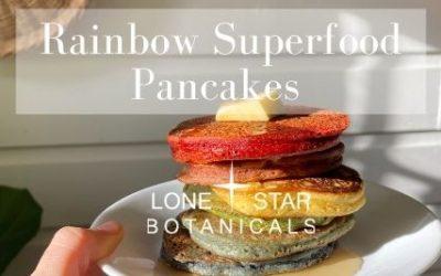 Superfood Rainbow Pancakes