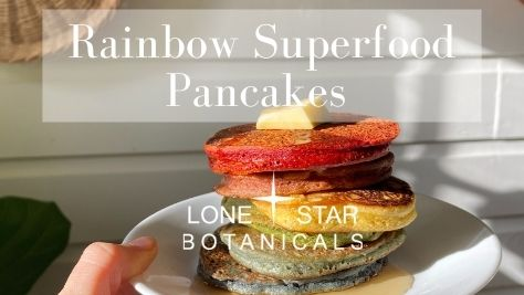 Superfood Rainbow Pancakes